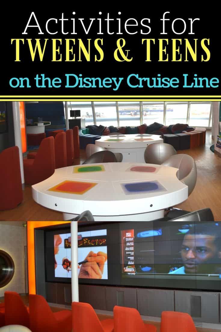 Activities For Tweens Teens On Disney Cruise Ships Cruises - Cruise ships for teens