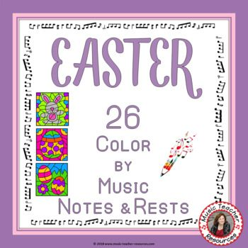 Music lessons      Easter Music: 26 Easter Music Coloring Pages      #musiceducation