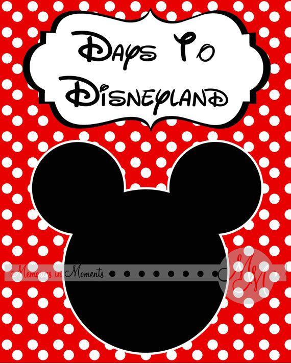 Printable Disney Countdown towelbars