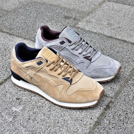 Newest Puma R698 Blocked Brown Mens Trainers Outlet UK0878