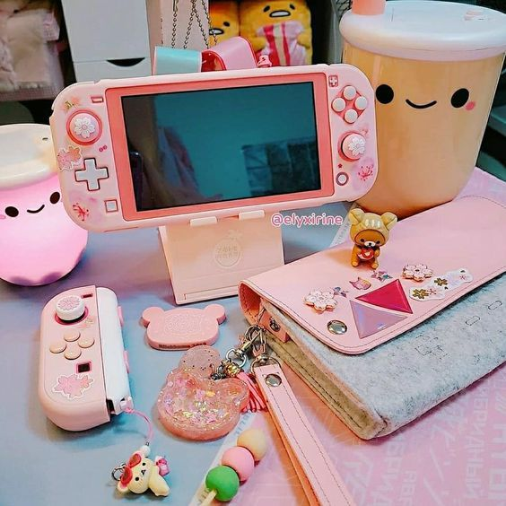 Pin By S On ə In 2020 Kawaii Room Nintendo Switch Accessories Cute Room Ideas