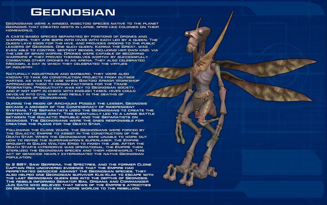 Geonosian Species Readout New By Unusualsuspex Deviantart Com On