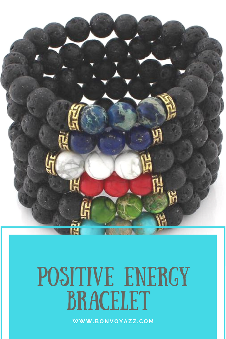 Positive Energy Bracelet With Genuine Stones To Promote Calmness Tranquility Healing Optimism Abundance Luck And Success