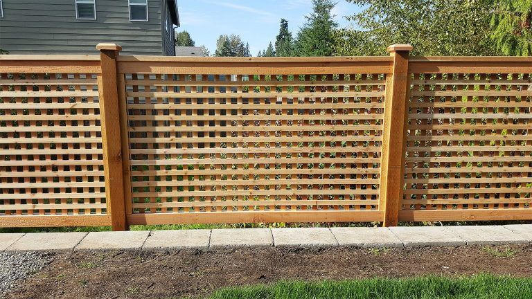 Fences Backyard Patio Fence Planning Building A Fence