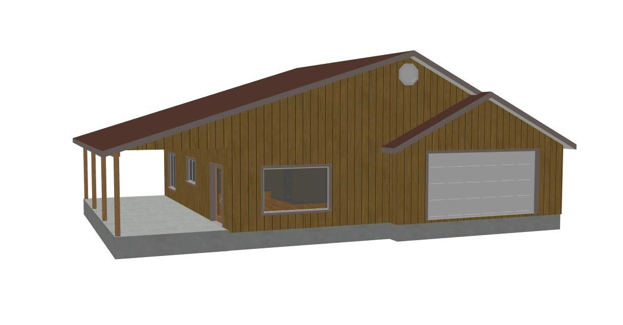 car detached door rear plans elevation garages garage