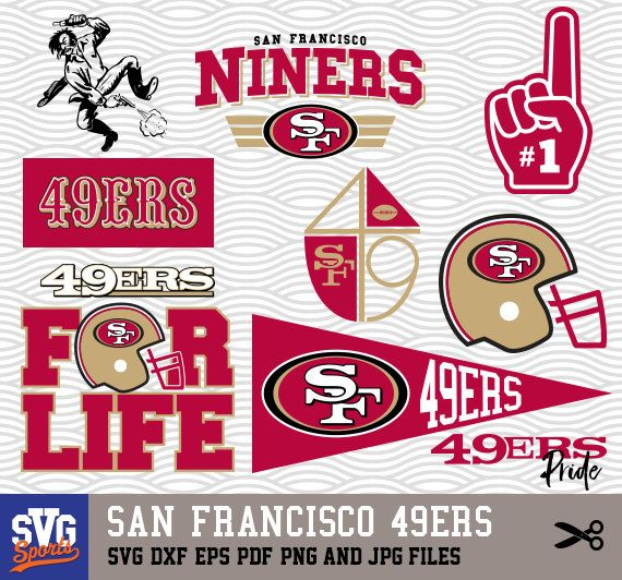 San Francisco 49ers Svg Logos Monogram Silhouette Cricut Cameo Screen Printing Sp 22 San Francisco 49ers Circut Projects Nfl History