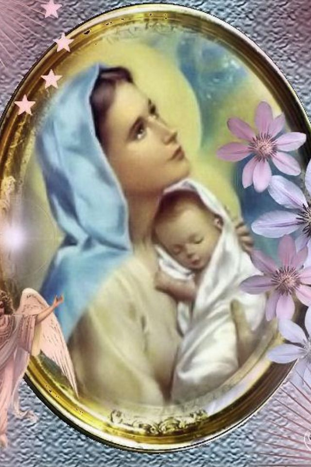 Blessed Mother Mary And Jesus Mary & Baby Jes...