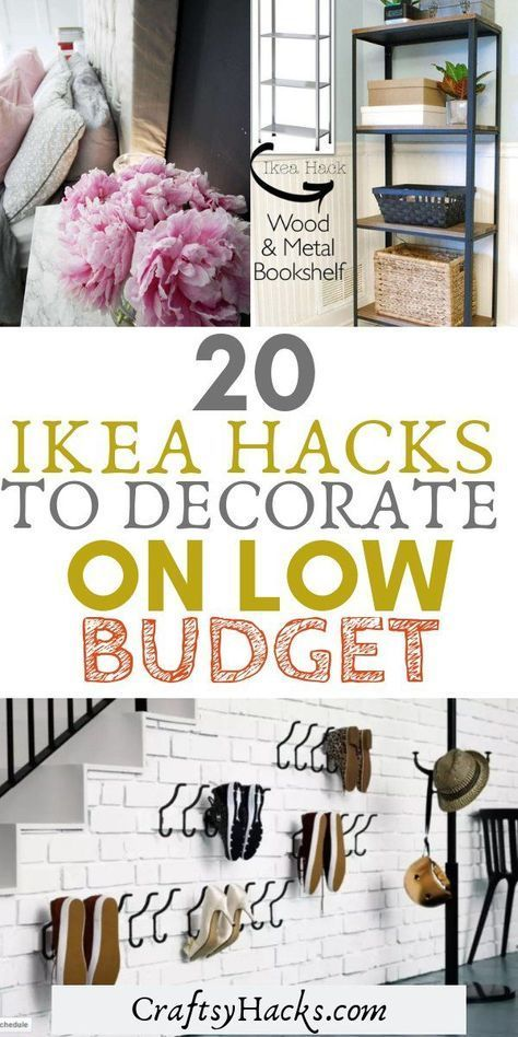 20 Amazing Ikea Hacks to Decorate on a Lower Budget -   17 home decor for cheap diy bedrooms ideas