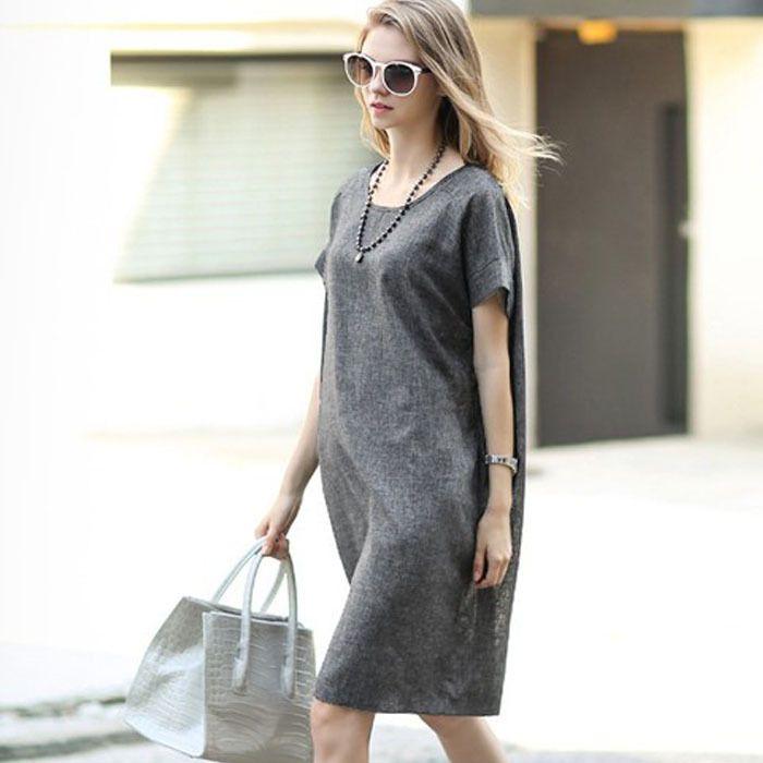 ef785519df Tanie  Marka styl lniane sukienki ciążowe ubrania dla kobiet w ciąży odzież  o neck ciąża wear krótki rękaw slim summer fashion