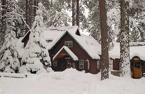 post office at camp sherman on the metolius river in oregon