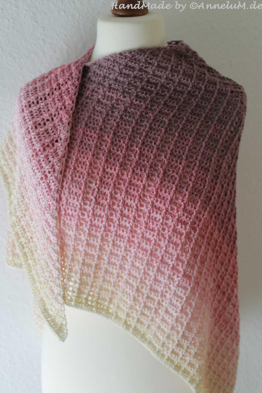 Das Tuch Fareth Jägerin Stricken Knitting Crochet Und