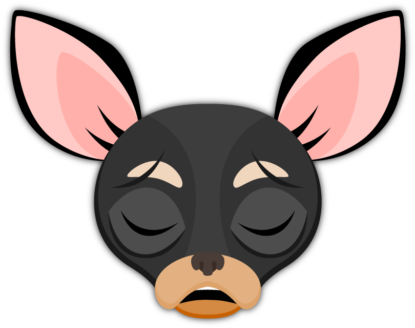Black Tan Chihuahua Emoji Stickers For Imessage Chihuahuas Have