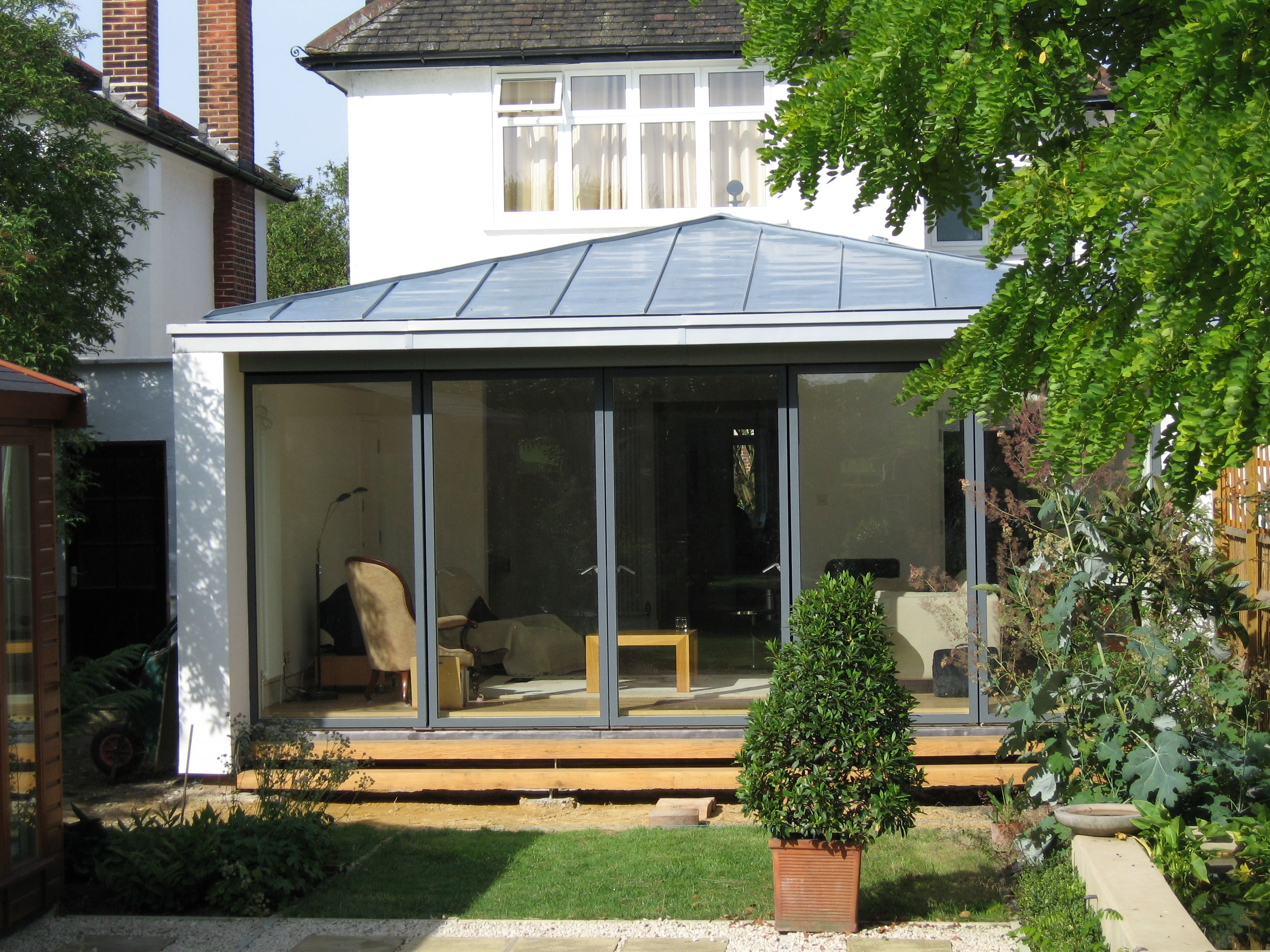 Best Hipped Metal Roof With No Overhang Robson Residence House 400 x 300