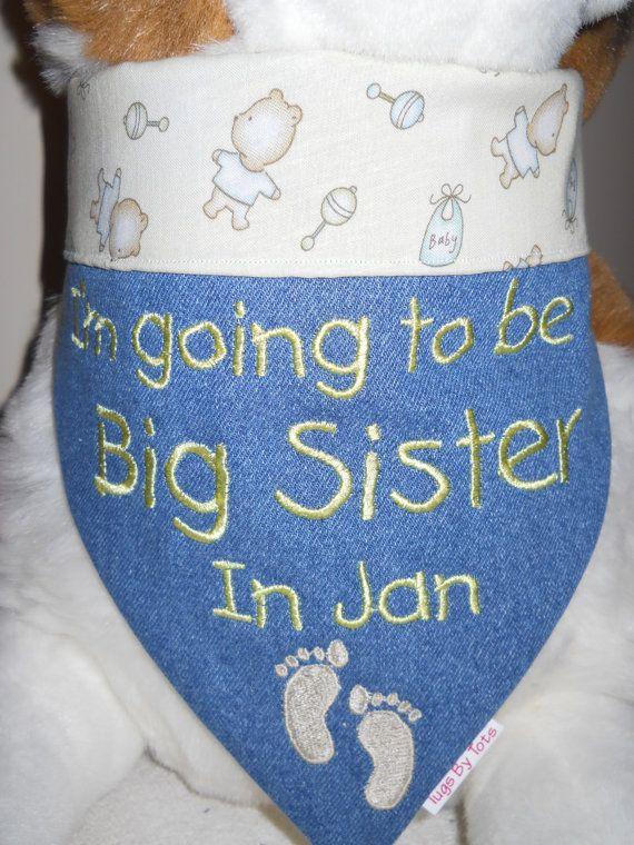I'm The Big Sister/Brother Dog Bandana Large by TugsByTots