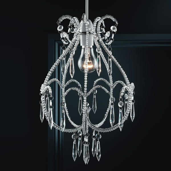 Wilko Beatrice Pendant Non Electric Beaded | Beatrice ... on Decorative Wall Sconces Non Electric Lights For Closets id=24041