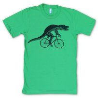 Gator on a Bicycle Grass Green T-Shirt