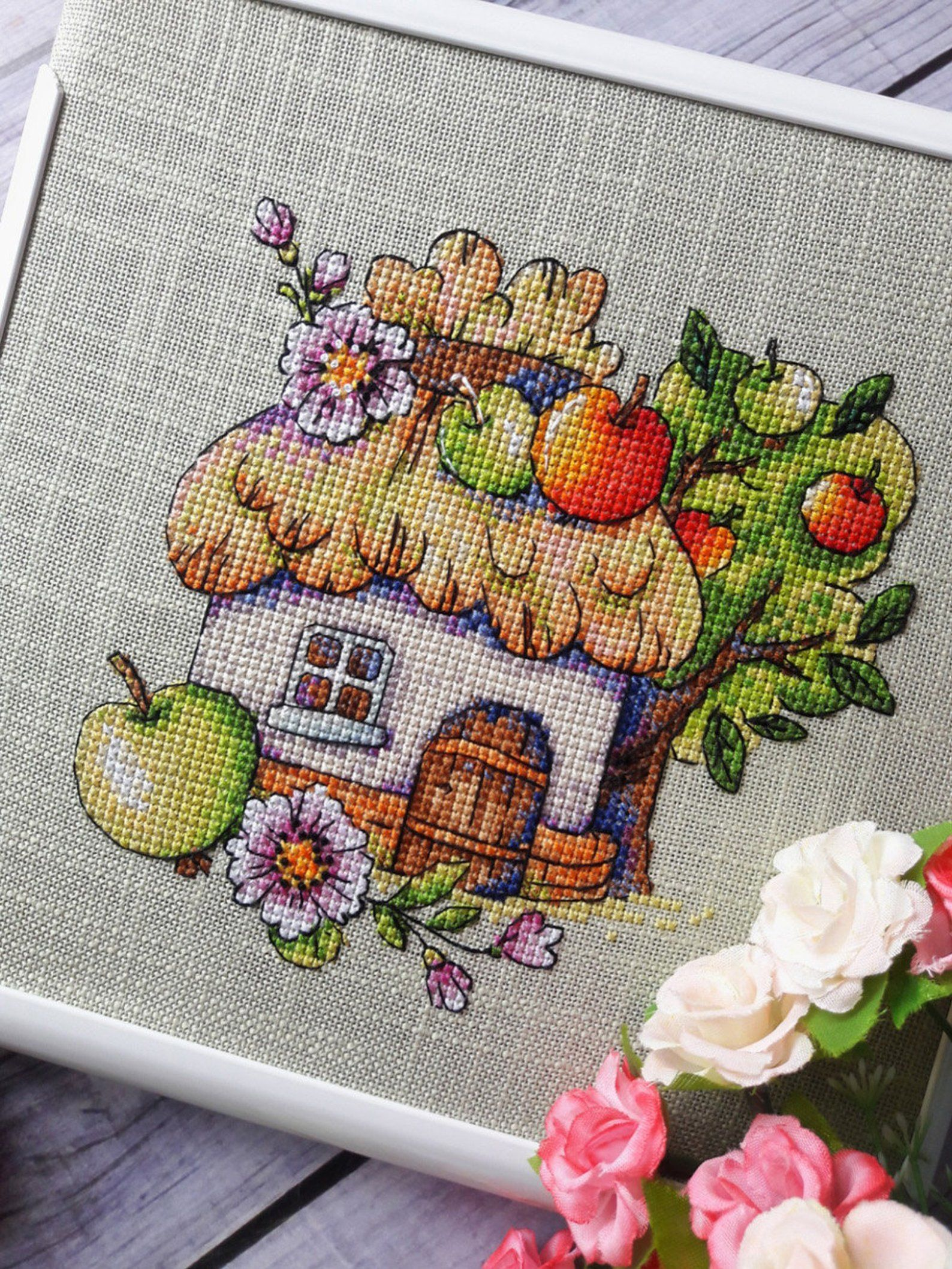 Flowers 16 Counted Cross Stitch Patterns By Crab Tree
