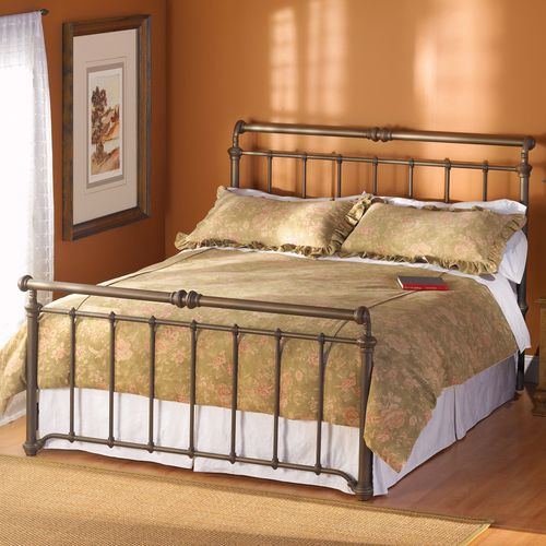 Our iron bed~California King~Old Copper finish as shown. We love it!