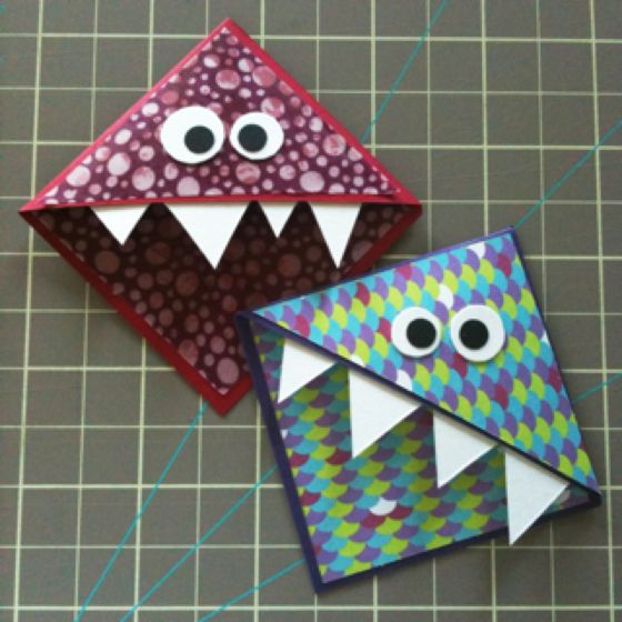Great Quick Craft For Kids 9 Monster Corner Bookmarks Woot