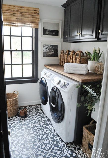 Trendspotting: Medallion Tiles - #Medallion #tile #Tiles #Trendspotting #laundryrooms