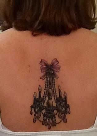 My tattoo meaning: Chandelier for my name, Crystal. 4 candles for ...