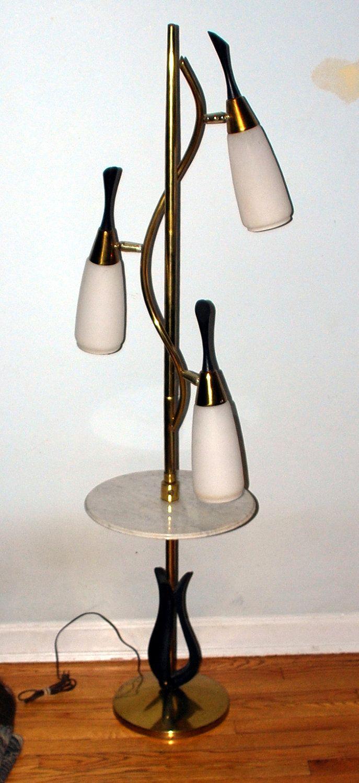 Vintage 60s 3 Light Pole Lamp Mid