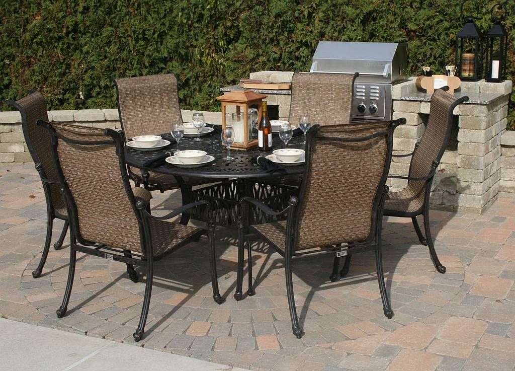 Things You Never Knew About Round Patio Dining Sets For 6 6 Chair