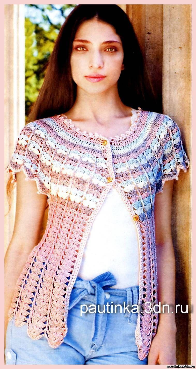 ergahandmade: Crochet Bolero + Diagrams + Free Pattern   crochet ...