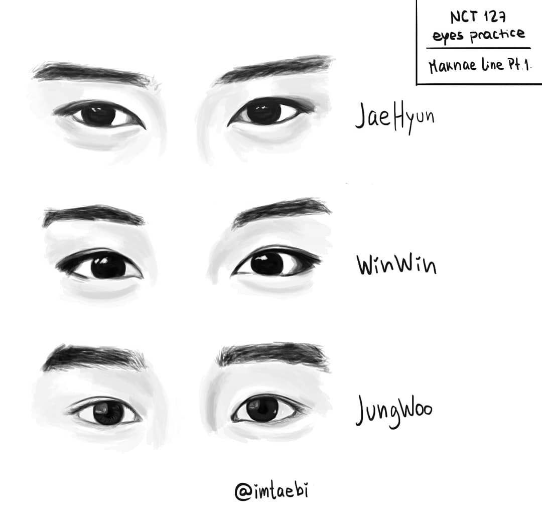 Nct Draw Jaehyun Winwin Jungwoo Fanart Sketsa Cara Menggambar Ilustrasi