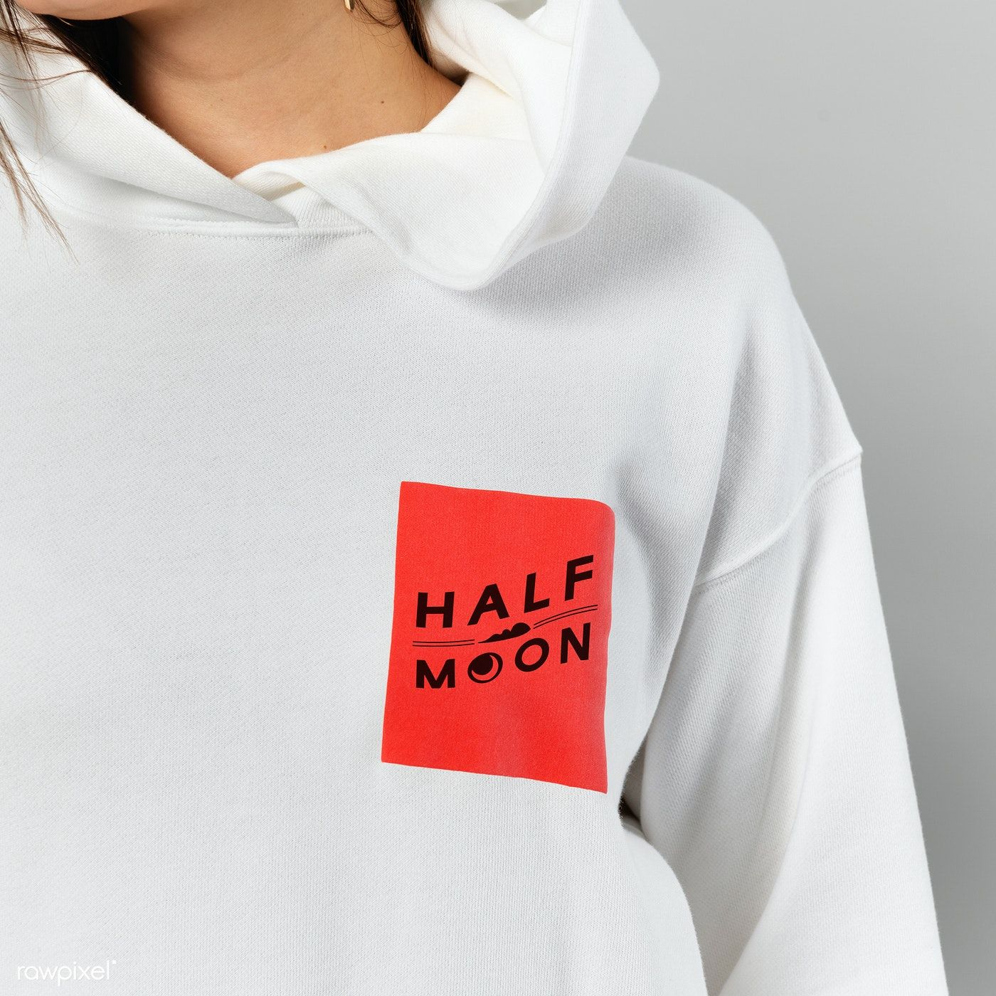 Download Download Premium Psd Of Woman In A White Hoodie Mockup 2288652 Hoodie Mockup White Hoodie Hoodies