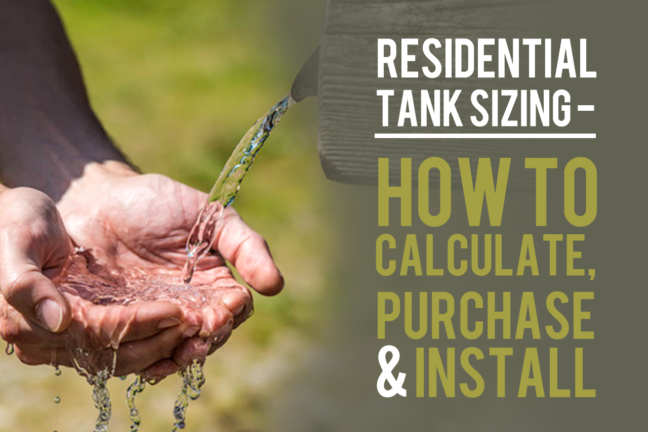 Residential Tank Sizing How To Calculate Purchase