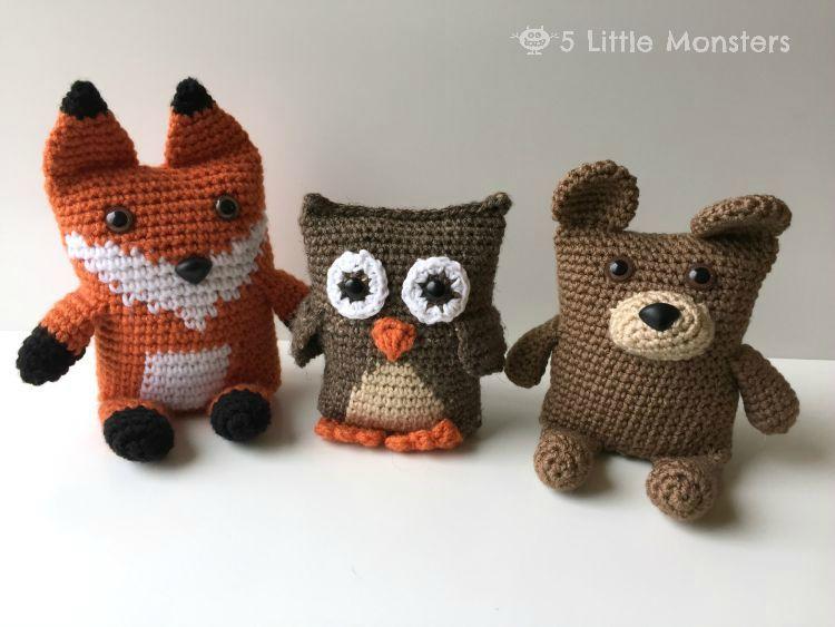 Easy Amigurumi Bear Pattern : Link to the boxy bear crochet pattern. this amigurumi animal is part