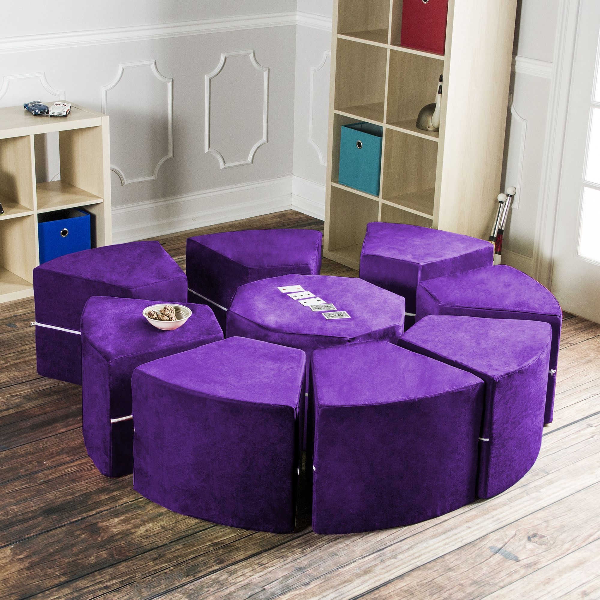 Jaxx Octagon Arrangement Kids Novelty Chair : kids sectional - Sectionals, Sofas & Couches