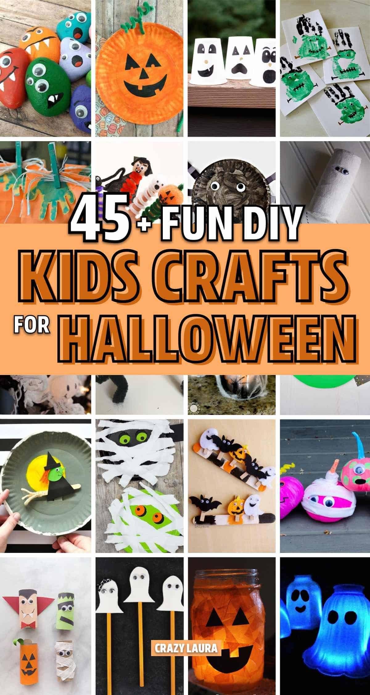 2020 Halloween Crafts 45+ Best Halloween Crafts For Kids In 2020   Crazy Laura