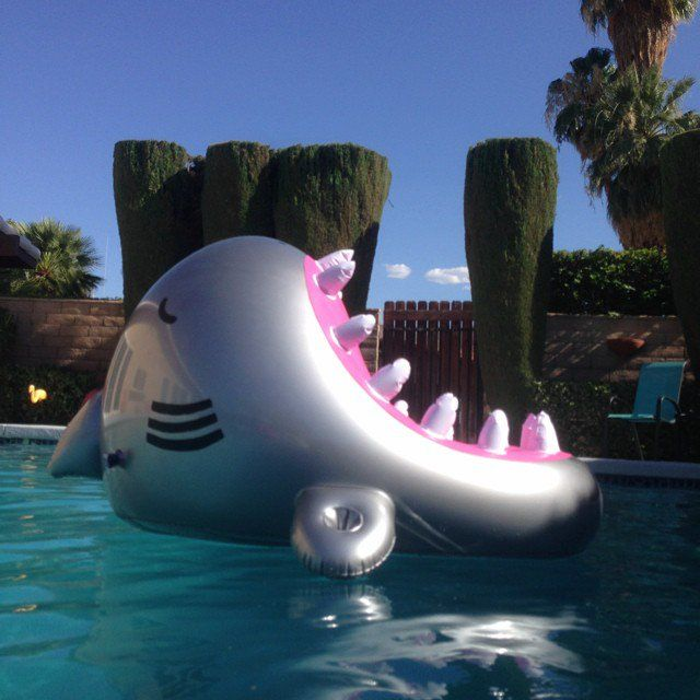 Estas adorables pantuflas y accesorios son perfectas para for Accesorios para piscinas inflables