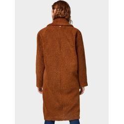 Photo of Tom Tailor Denim women's teddy coat, brown, plain, size XL Tom TailorTom Tailor