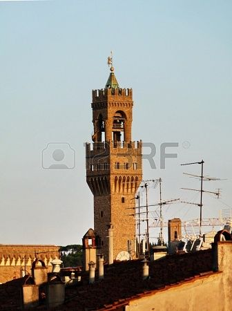 Arnolfo s Tower at sunset, Florence, Italy