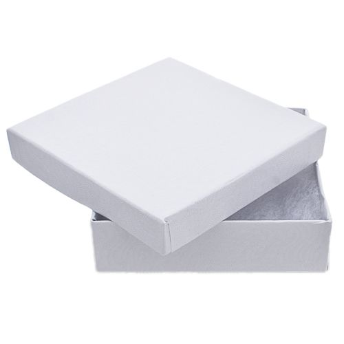 White Swirl Square Jewelry Box 35x35x1 Aunties Beads