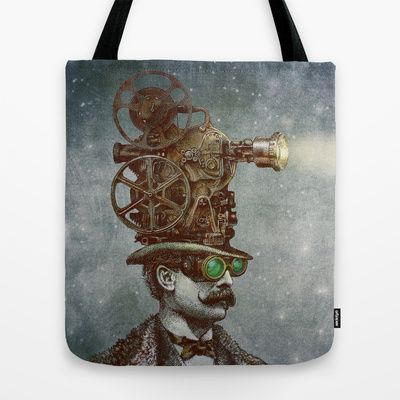 The Projectionist (colour option) Tote Bag by Eric Fan - $22.00
