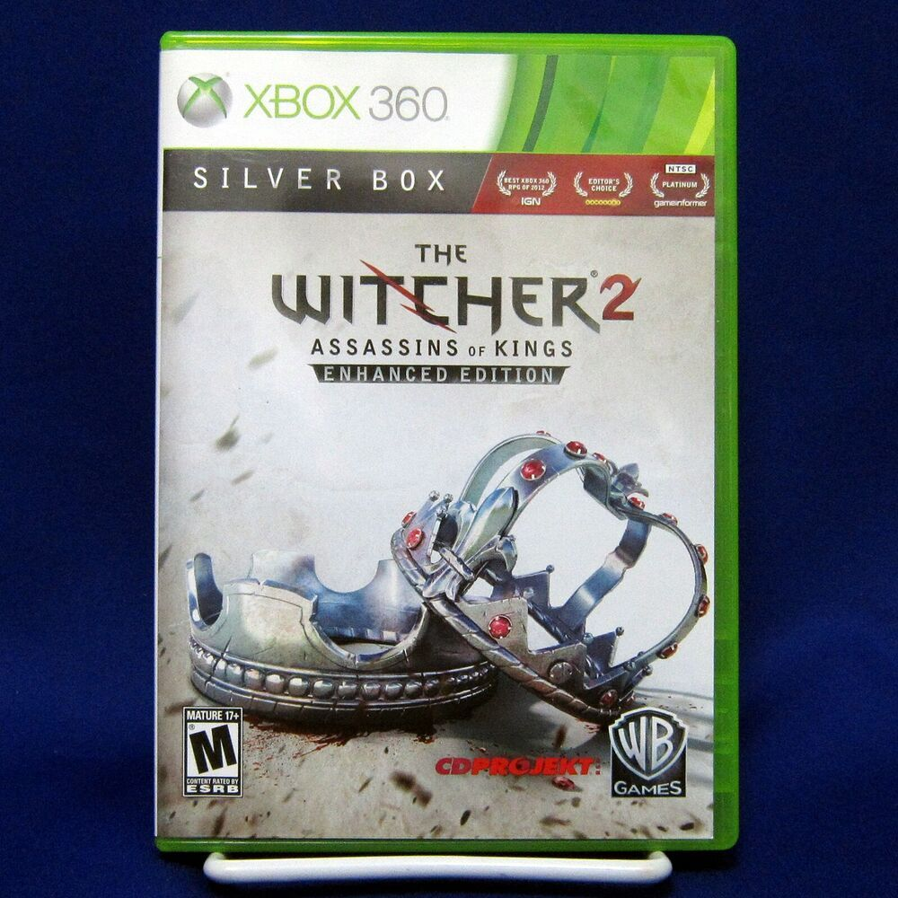 The Witcher 2 Assassins Of Kings Enhanced Edition Silver Box Complete Tested In 2020 Silver Box The Witcher Witcher 2