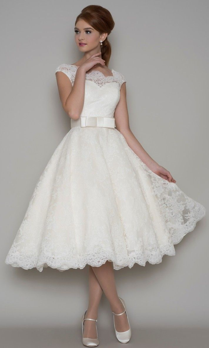 One Of Favourite Gowns At The Moment Gorgeous Neckline And Lovely Full Skirt From Loulou Bridal: Short Full Skirt Wedding Dress At Reisefeber.org