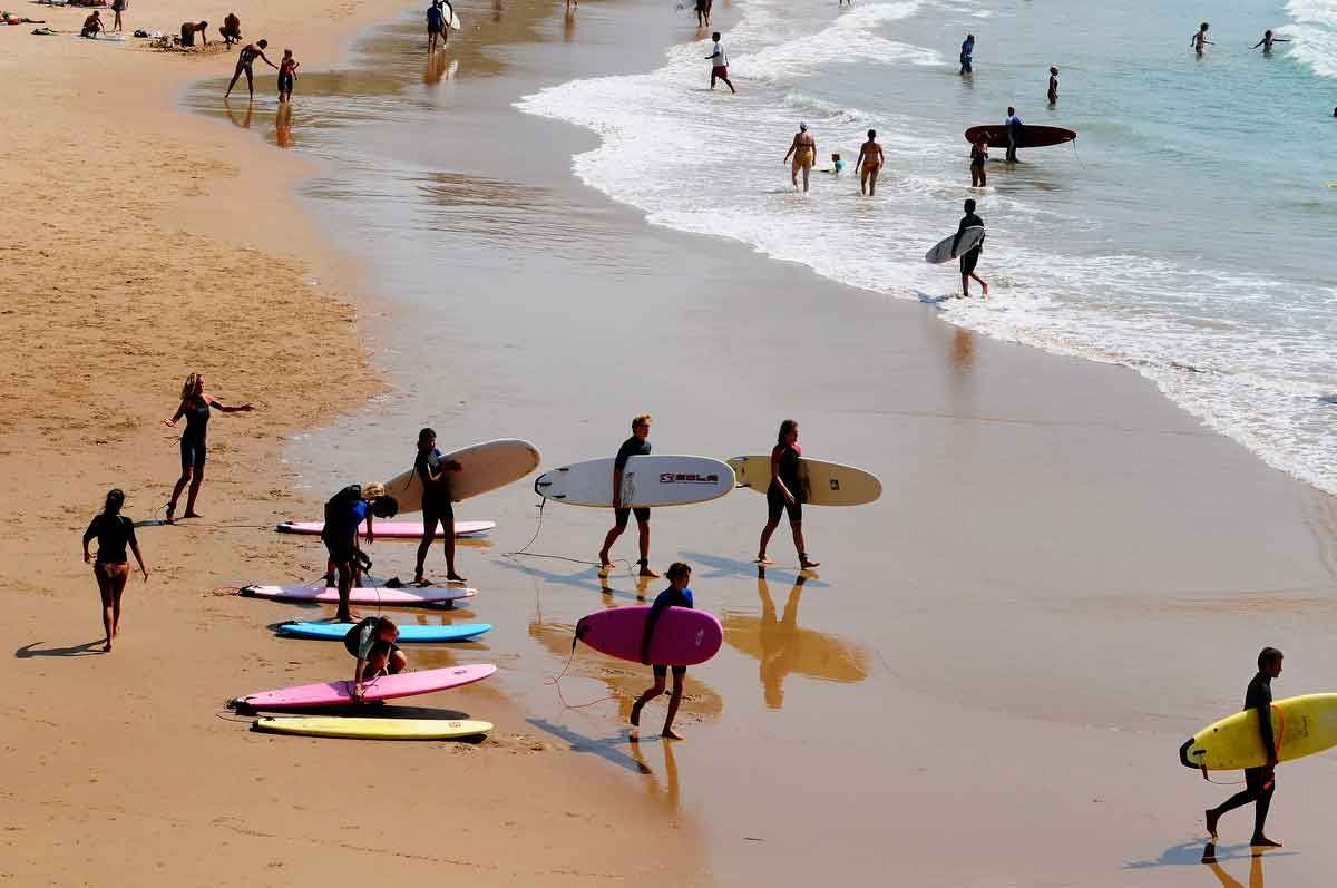 French beach town Doctors prescribe Surfing Lessons