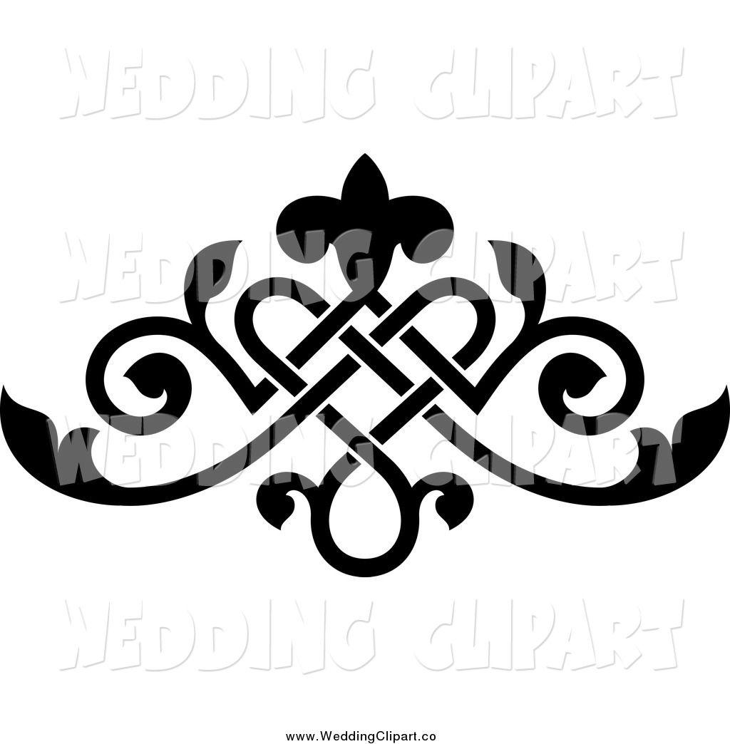 vector marriage clipart of a black ornate floral victorian wedding rh pinterest com wedding designs clip art free wedding designs clip art png
