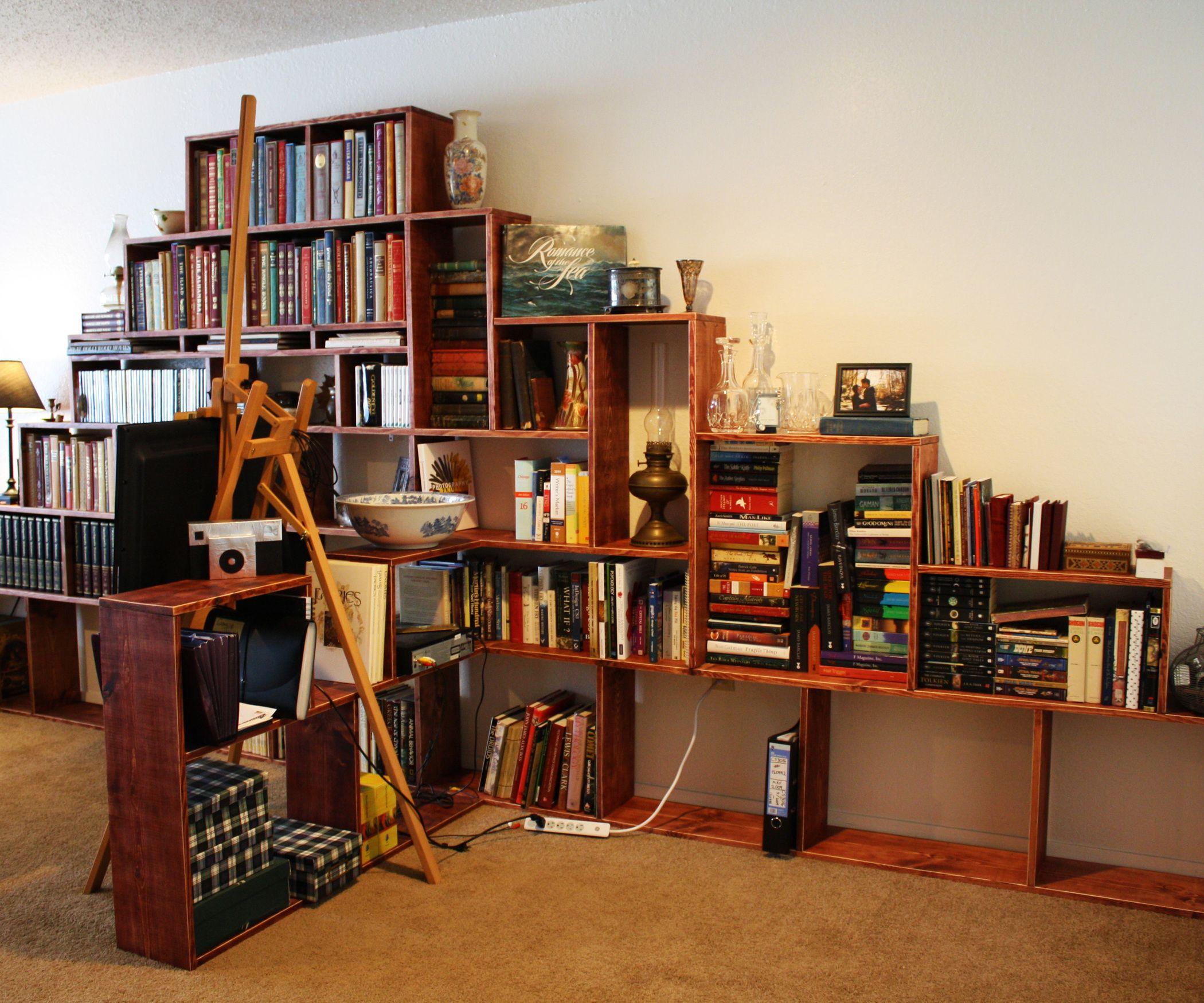 How To Make A Bookshelf Mountain