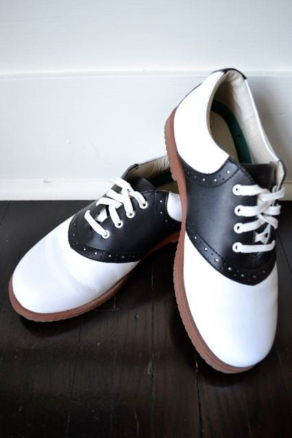 7f7d5ed6994412 Leather Saddle Shoes - Preppy Shoes - Black and White Leather Shoes ...