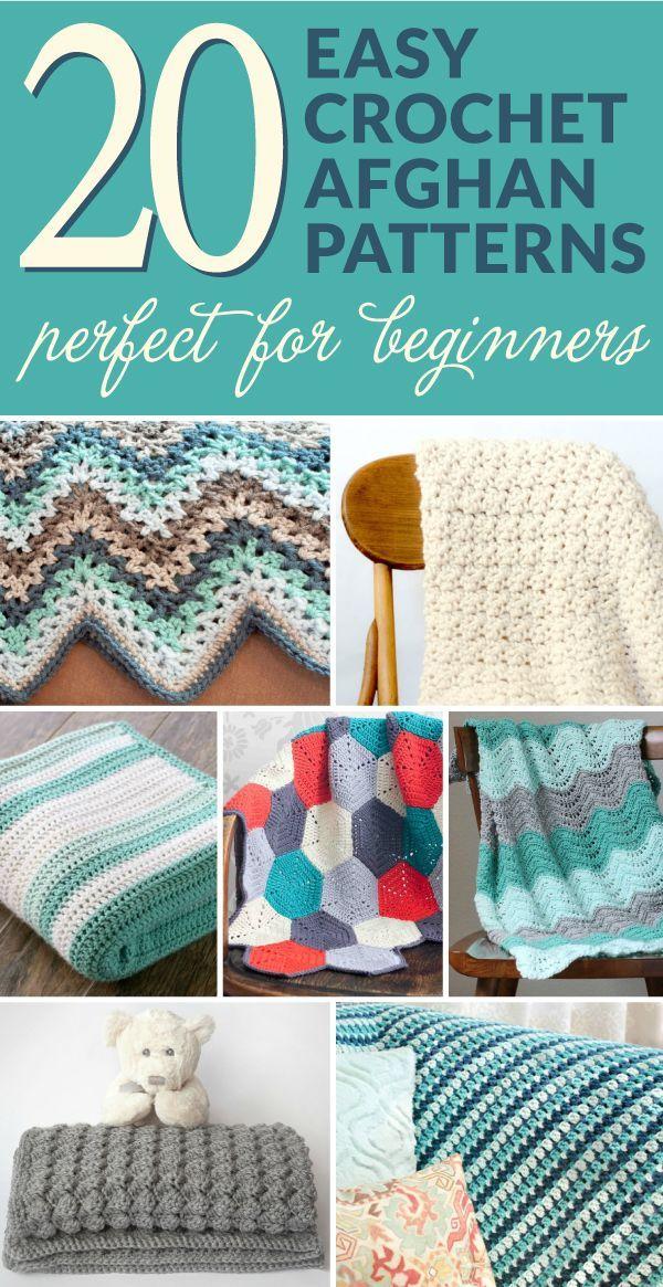 20 Easy Crochet Afghans Perfect for Beginners | Punto de crochet ...