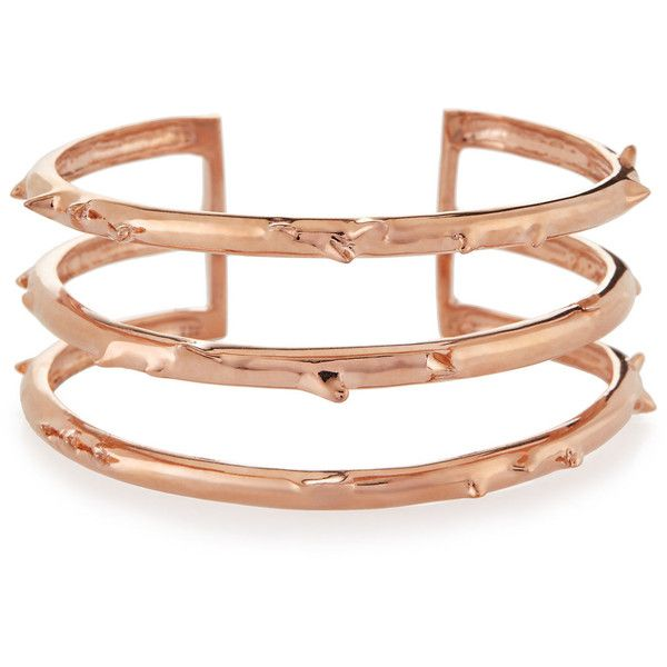 Katie Design Jewelry Rose Gold Vermeil Trinity Thorn Cuff 680