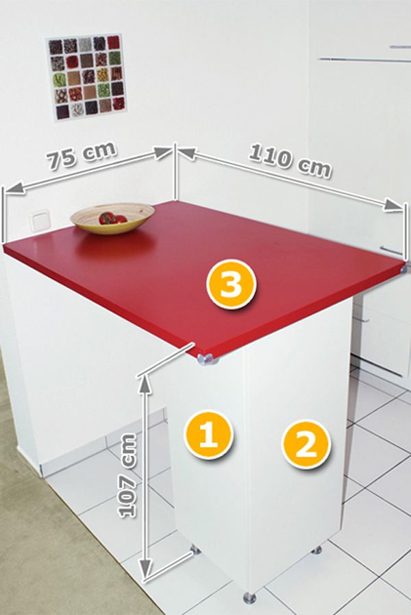 Ikea-Hack: Küchentheke für 66 Euro | Ikea küche, Ikea hacks und Hacks