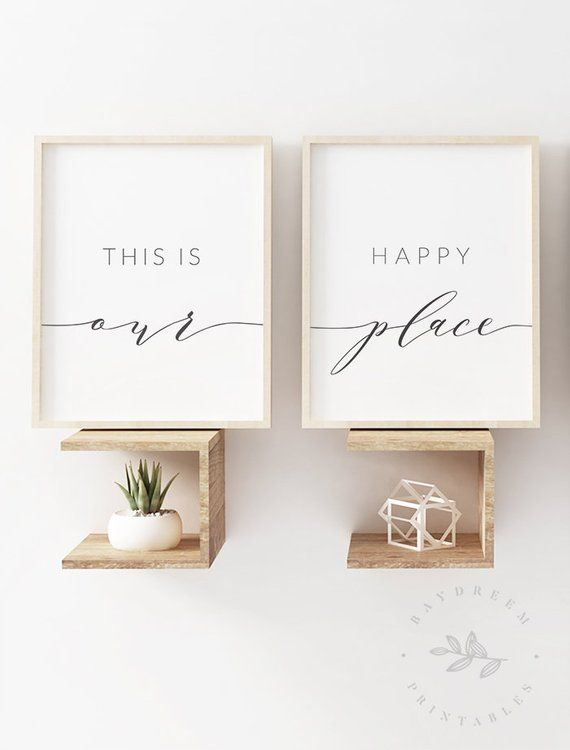 This Is Our Happy Place Print Set Of 2 Prints Wall Art Etsy Living Room Quotes Wall Art Quotes Printable Wall Art Living Room #wall #art #quotes #for #living #room