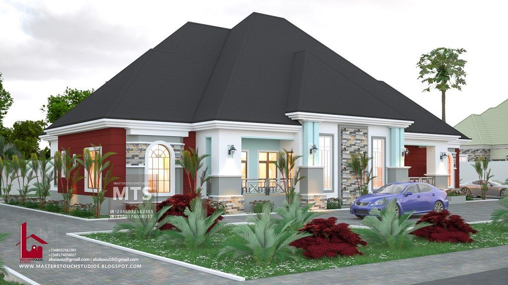 4 Bedroom Bungalow Rf 4015 House Plans Mansion Bungalow House Design Bungalow Style House Plans